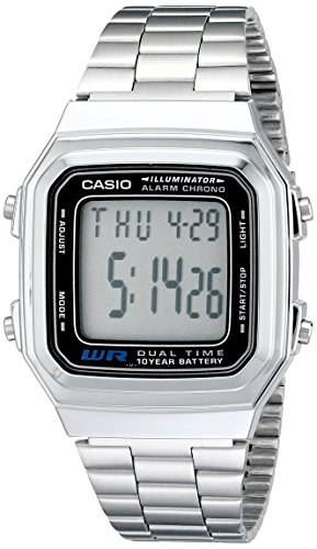 Casio Men's Classic Quartz Watch with Stainless-Steel Strap, Silver, 22 (Model: EAW-A-178WA-1)
