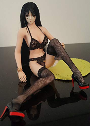 """HiPlay 1/6 Scale Female Figure Doll Clothes, Handmade Costume, Sexy Bra, Panty & Stockings Set Outfit for 12"""" Action Figure Phicen,TBLeague DC038 (Black)"""