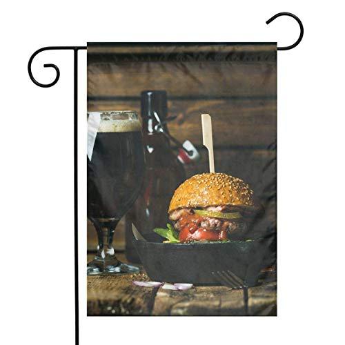 CHANGSHABF Yard Flags Turkije Hamburger en wijn Festival Garden Vlag Huisdeur Decoratieve Home Outdoor Vlag 30X45Cm
