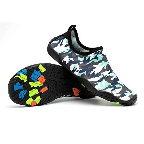 Sykooria Buty do wody, męskie, damskie, wodoszczelne, antypoślizgowe, oddychające, unisex, buty do wody, buty plażowe, buty do pływania, buty na boso, - Gumowe maskowanie - 46/47 EU