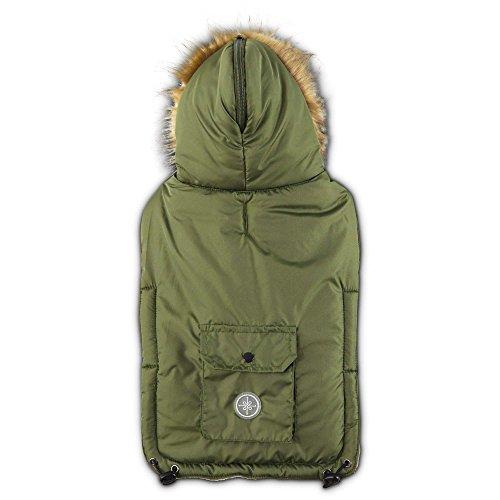 Good2Go Split Hood Parka Dog Coat in Olive Green, XX-Large/XXX-Large (XXL/XXXL)