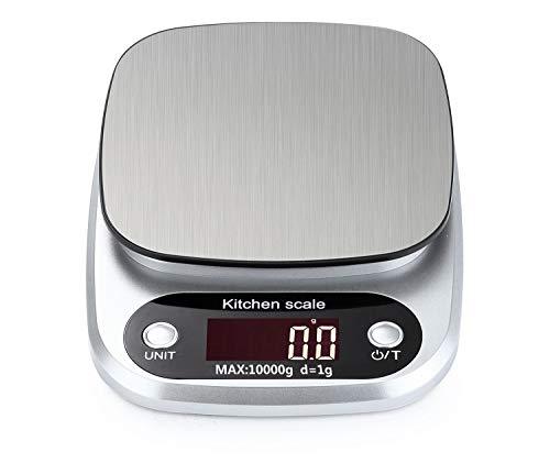 Meichoon Báscula Cocina Digital Gran Capacidad de 1g a 22 LB Plataforma de Acero Inoxidable Ultradelgada Herramientas de Cocina C15B