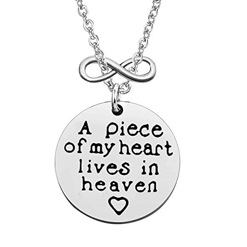 Memorial Jewelry Memorial Necklace Gift in Memory of Loved One Gift A Piece of My Heart Lives in Heaven Necklace Sympathy Gift Remembrance Gift Loss Memorial Necklace Jewelry