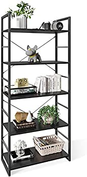 ODK 5 Tier Tall Bookcase Shelf