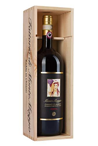Vino Rosso - Chianti Classico Riserva - Toscano - Bio - Vino Gallo Nero - Sangiovese - Biologico - Merlot - Secco - Fattoria di Montemaggio - Magnum