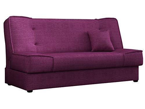 Mirjan24 Schlafsofa Gemini mit Bettkasten, 3 Sitzer Sofa, Couch mit Schlaffunktion, Bettsofa Schlafsofa Polstersofa Farbauswahl Couchgarnitur (Enjoy 16)