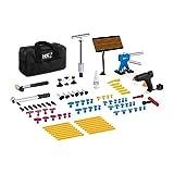 MSW Kit De Herramientas para Reparar Abolladuras En Carrocerías MSW-DENTPULLER.SET1 (Set De 90 Piezas, Respetuoso con La Pintura, Pistola De Adhesivo Térmico Incluida)