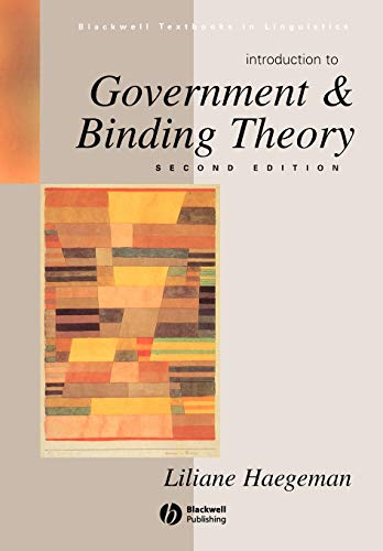 Introduction to Government & Binding Theory 2e (Blackwell Textbooks in Linguistics)の詳細を見る