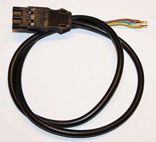 WAGO Wista Stecker schwarz 3-polig mit 0,5 Mtr Kabel 771-9993/206-101 Anschlußleitung