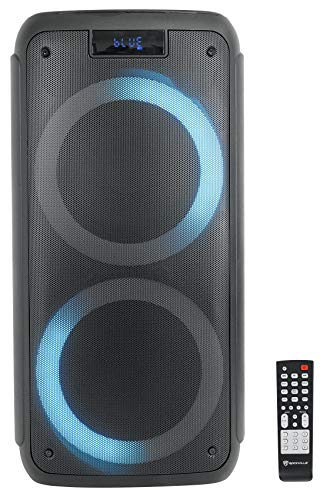 """Rockville Rock Party 8 Dual 8"""" Battery Powered Home/Portable Bluetooth Speaker"""