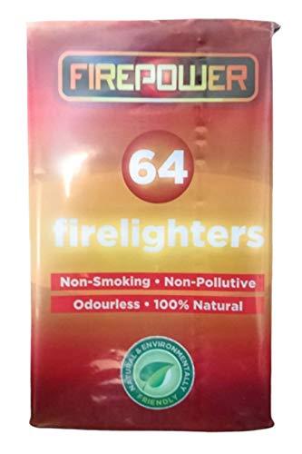 64 Natuurlijke eco hout brandweerlieden Fire starter voor houtskool BBQ's Pizza oven rokers kampvuren open haarden houtkachels. Bevat 1 pak van 64 brandweerlieden Uitstekende waarde