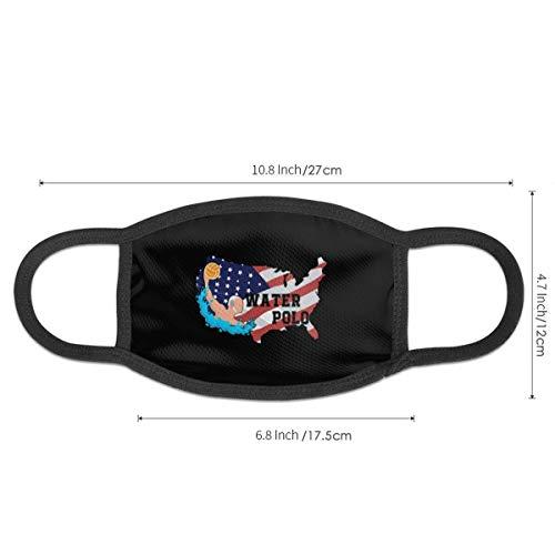 Mundschutz Gesichtssch Amerikanische Flagge Wasserball Männer 'Frauen Frauen' Wiederverwendbarer Druck Winddichte waschbare Ohrenbekleidung für Camping