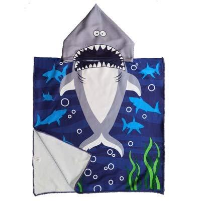 Nuevos niños Capa con Capucha de Dibujos Animados Lindo Toalla de Playa Animal Impreso Microfibra Bebé Niños Niñas Niños Natación Toalla de baño 120x60cm - C15