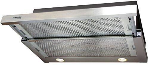 Nodor 1700 Dunstabzugshaube/Flachschirmhaube/60 cm/ECO LED-Beleuchtung