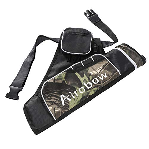 OEELINE 3-Tubes Hip Quivers Camo Archery Arrow Quiver Holder for Hunting Shooting Target Practice