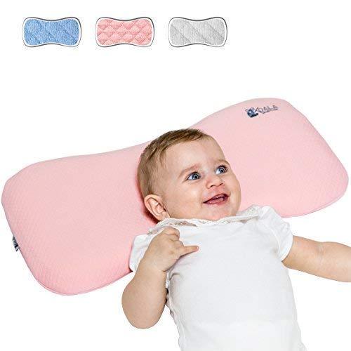 DAS ORIGINAL Koala Babycare® - 0-36 Monate Orthopädisches Babykissen (mit Ersatzkissenbezug). Es beugt der Plagiozephalie vor - eingetragenes Design KBC® – Rose – Maxi