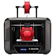 R QIDI TECHNOLOGY i Mate 3D Printer, Metal Frame,with Upgrade Extruder and Professional Software,Print Out of Box, Suitable for Novice,Print with PLA,PETG, TPU, Print Size 260x200x200mm