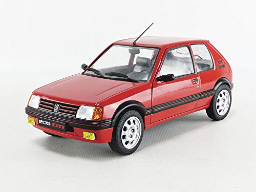 solido S1801702 Peugeot 205 Gti Mk1 1985 1:18 1985-Red 1801702, Red