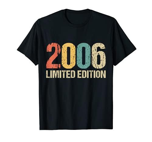 15 Años Cumpleaños Chico Chica Regalo Deco Divertido 2006 Camiseta