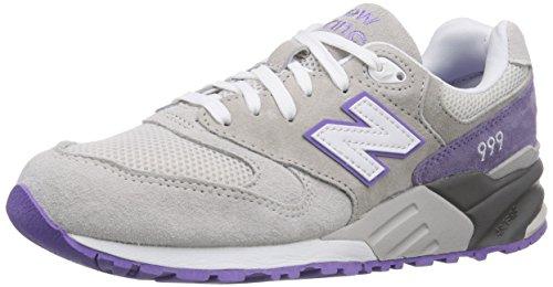 New Balance 999 - Zapatillas Unisex, Color Gris (Grey/Purple), Talla 41.5