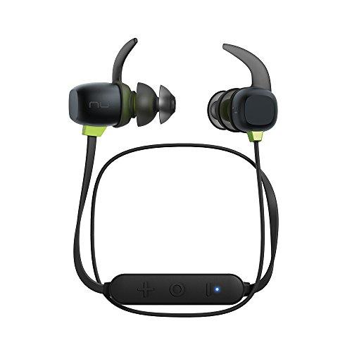 Optoma NuForce BE Sport4 Ecouteurs Premium Sport sans fil, avec micro, 10h d'autonomie, résistant à la sueur, supporte AAC & aptX, charge rapide, Drivers Graphène compatible avec Android et ios.