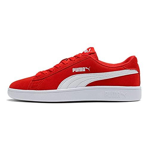 PUMA Smash V2 SD Jr, Zapatillas Unisex Adulto, Rojo (High Risk Red White), 36 EU