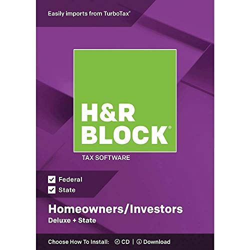 H&R Block Deluxe + State 2018 Homeowners/Investors Tax Software, Traditional Disc (Original Version)