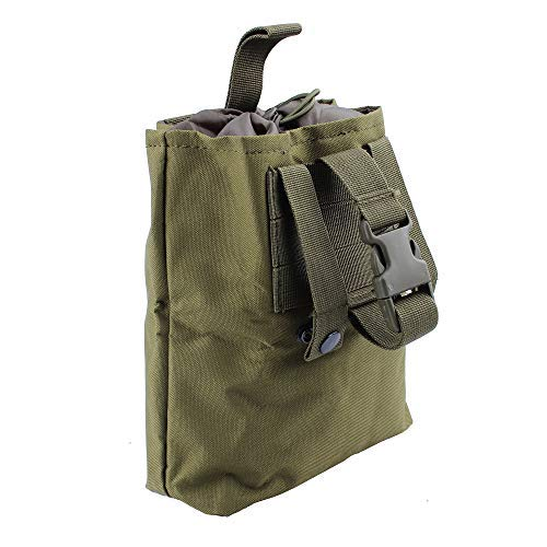 Tactical Molle Dump Drop Pouch,600D Nylon Klein Falttasche wasserdichte EDC Taschen für Outdoor Wandern Camping Jagd (Green)