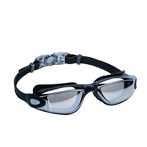 lulupila Schwimmbrille, Tauchbrille, Antibeschlag, Anti-Fog Beschichtung, UV-Schutz, Wasserdicht, Stoßfeste Brillengläser, Schwimmbrille für Freizeit und Profis mit Brillenetui