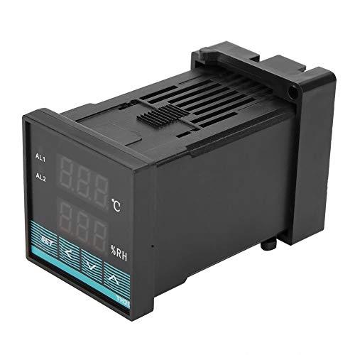 Temperatur- und Luftfeuchtigkeitsregler, Digitaler Thermostat-Luftfeuchtigkeitsregler mit LED-Anzeige Anzeigebereich -19,9~80,0 ℃ (Temperatur), 0,0~99,9% rF (Luftfeuchtigkeit)