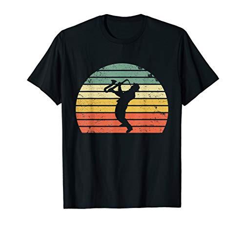 Vintage Saxophon Spieler Shirt Mann Saxophonspieler T-Shirt