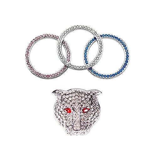 Botón de arranque de motor de auto auto anillo decorativo ABS botón universal, pegatinas decorativas anti arañazos, exquisito interior adecuado para hombres y mujeres