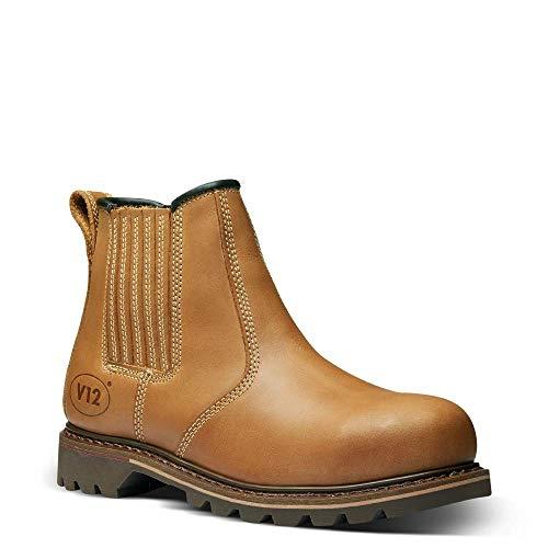 V12 Stampede, Vintage Leather Safety Dealer, 11 UK 46 EU, Tan
