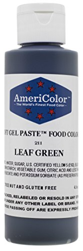 Americolor Soft Gel Paste Food Color, 4.5-Ounce, Leaf Green