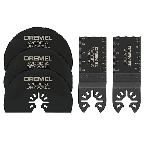 Dremel MM389 5-Piece Oscillating Tool Cutting Blade Assortment Kit- Perfect Cutter For Wood, Metal, Plastics, Drywall, and More