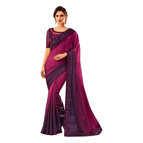 Ontwerper Indian Bollywood Milano Zijde Volgorde Werk Saree Bruiloft Casual Wear Party Feestelijke Vrouwen Sari Blouse 9625