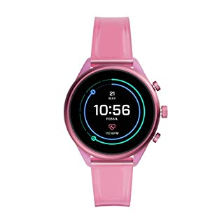 Fossil Sport Heart Rate Metal and Silicone Touchscreen Smartwatch, Color: Hot Pink (FTW6058) (B081HRCL75) | Amazon price tracker / tracking, Amazon price history charts, Amazon price watches, Amazon price drop alerts