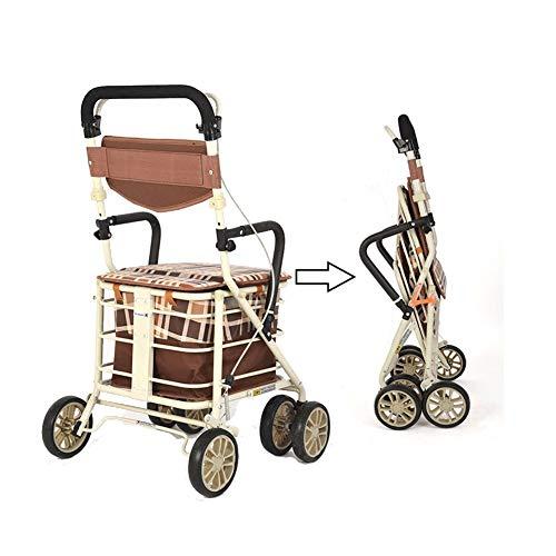 Old Man Trolley bromfiets kan zitten op een licht vouwen winkelwagen kleine Pull auto om te helpen stap voor auto