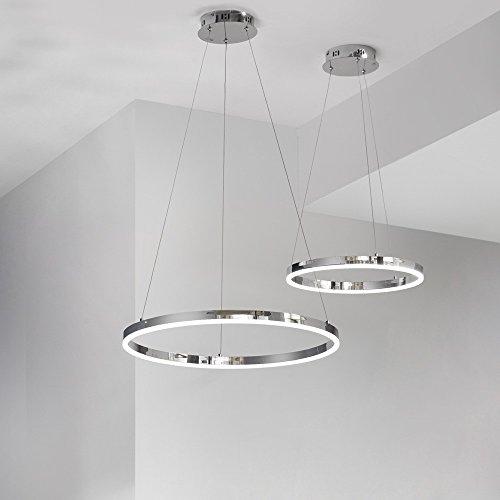 Preisvergleich Produktbild s.LUCE Ring S LED-Hängeleuchte Ø 40cm Chrom Wohnzimmer Hängelampe LED Ring Pendelleuchte Pendellampe Designleuchte Deutsches Design aus Bayern