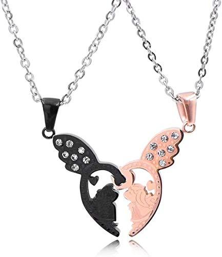 JULYSST Anhänger Halskette Vintage Gold/Silber Mini Boxhandschuh Halskette Personalisierte Match Schöne Schmuck Anhänger Halskette-Silber