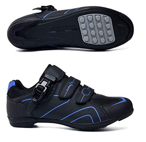 Govoland Mountain Bike Shoes Zapatos De Deportes De Los Hombres Femenino Profesional Calzado De Bicicleta Zapatos De Montaña Zapatos De Montaña Bloqueo(41, Blue)