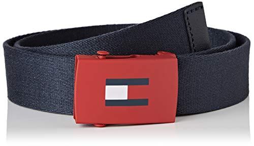 Tommy Hilfiger Kids Plaque Belt 3.0 Cintura, Blu (Blue 0Gy), Medium Unisex-Adulto
