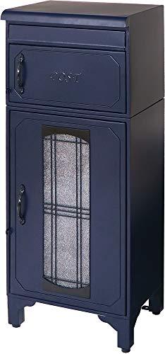 ヤマソロ(Yamasoro) デザイン小物 ブルー 幅40×奥行33×高さ100cm 宅配ボックス付きポスト eldy-エルディー- 73-840