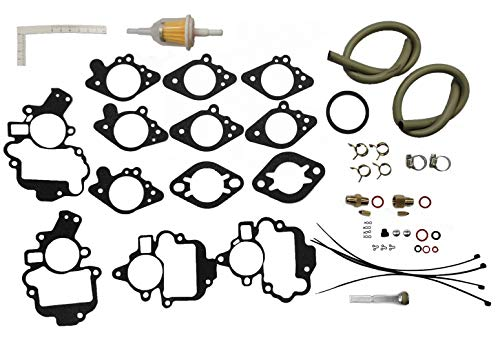 DEF 15021B Carburetor Kit Carter B & B 1 Barrel 6 Cylinder Engines Replacement for Chrysler 1941-54, Desoto1939-54,Dodge 1949-54,Dodge Truck 1939-60,Plymouth 1939-54,Plymouth Truck 1939-60