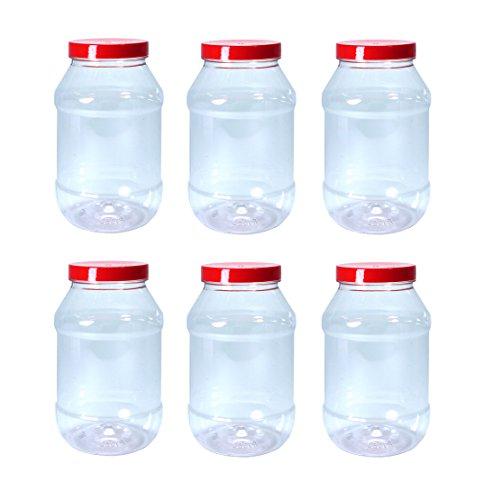 Britten & James Aufbewahrungsbehälter für Lebensmittel, Kunststoff, 1000 ml, 6 Stück, ideal für Gewürze, Kräuter, Tee, Kaffee, Zucker, Mehl, Samen, Pulse, Linsen, Nudeln und vieles mehr