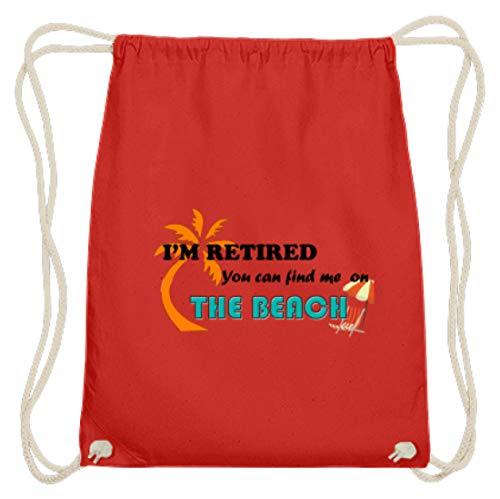 Sac de gymsac en coton de qualité supérieure - Je suis au repos, tu Kannst Mich Am Am Finden - Design simple et amusant - Rouge - rouge clair, 37cm-46cm