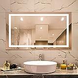 Dutsekk LED Bathroom Mirror for Wall - 40x24 Inch Anti-Fog Bathroom Mirror with Lights Dimmable IP44 Waterproof - Lighted Bathroom Vanity Mirror CCT Adjustable for Makeup
