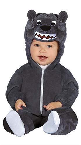 Guirca - Kostüm Wolf Baby, Größe 6-12 Monate (87592.0)