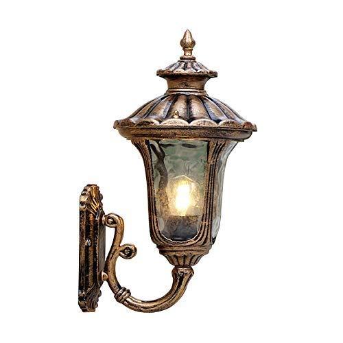 XAJGW Appliques murales extérieures rustiques pour lanterne suspendue 1 lumière