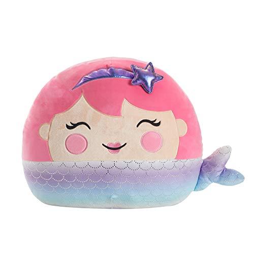 "Heritage Kids Figural Smooshie Super Soft Kids Cozy Plush Pillow Toy, Mermaid,16""x16 x16"""